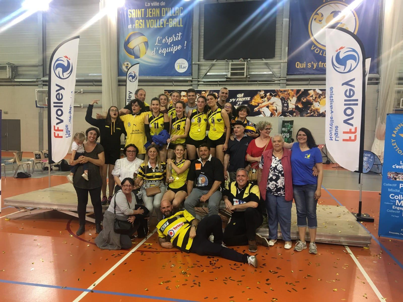 Les Cadettes championnes de la Grande Région Nouvelle-Aquitaine