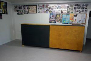 Le nouveau comptoir pour la salle Pierre Cescutti