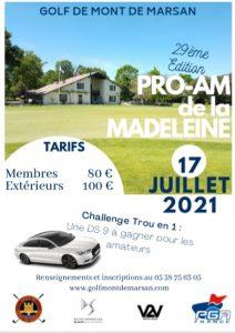 Inscrivez-vous au Pro Am de La Madeleine le 17 juillet