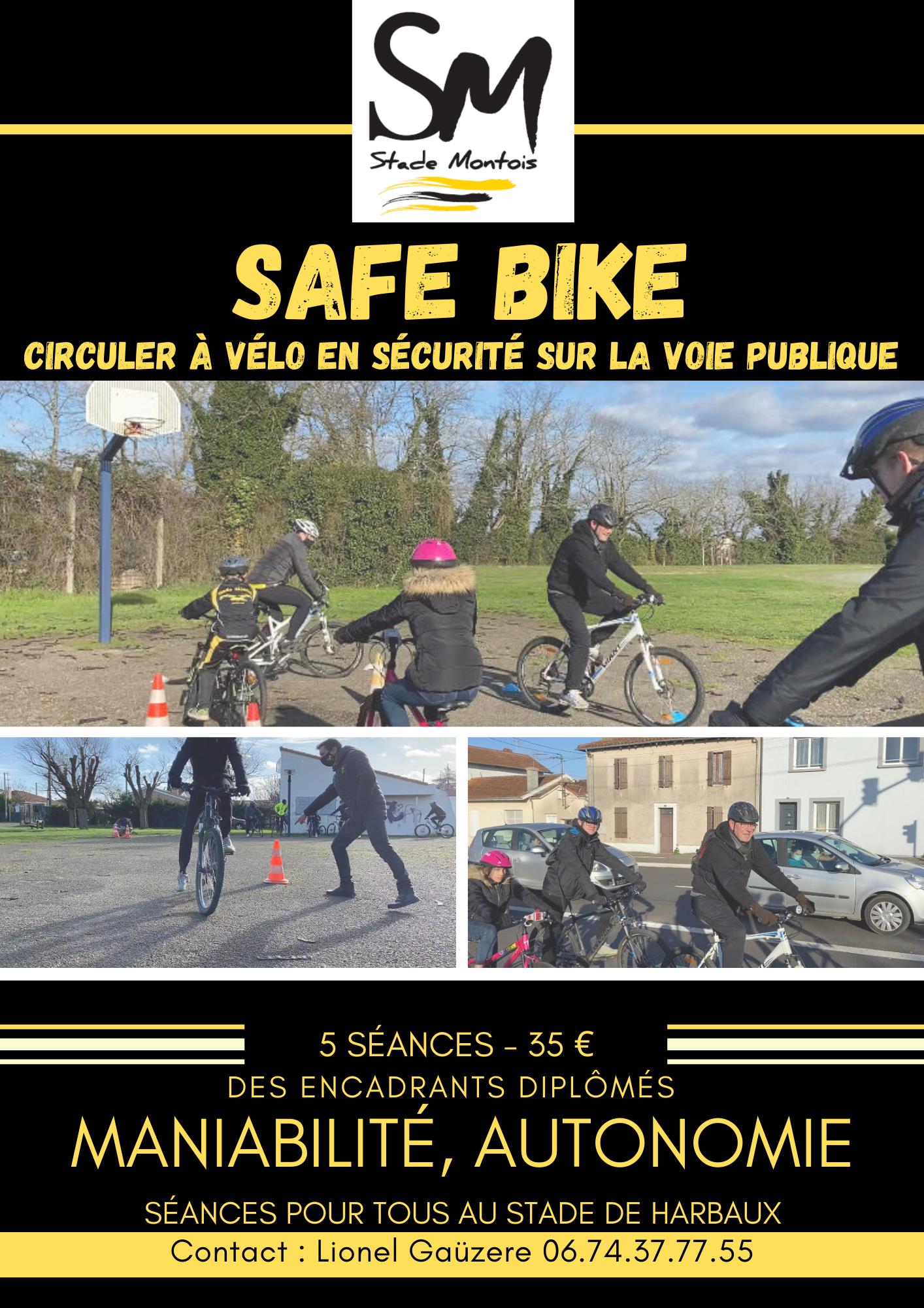 SAFE BIKE : circulez à vélo en toute sécurité.